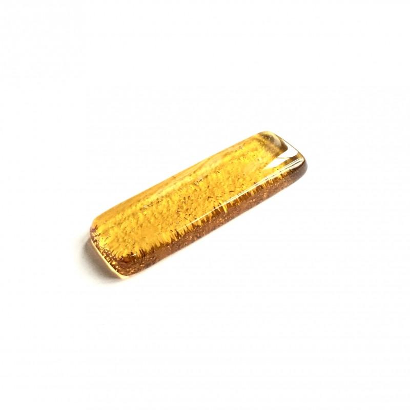 Porte couteau en fusing verre ambre clair N°2