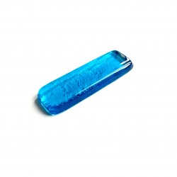 Porte couteau en verre fusing turquoise N°9