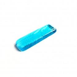 Porte couteau en verre fusing turquoise clair N°10B