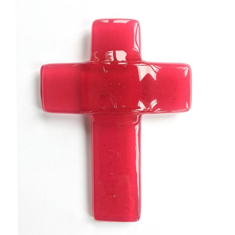 croix auréolée rose