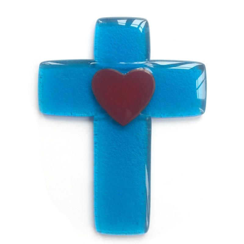 croix des mariés bleue