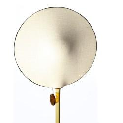 Lampe bambou KALAMEO avec abat-jour GALAXI face lin